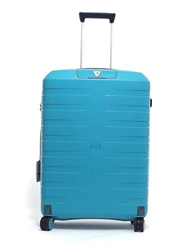 Roncato trolley viaggio, Box 5511-0167, trolley valigia grande quattro ruote in polipropilene, colore smeraldo