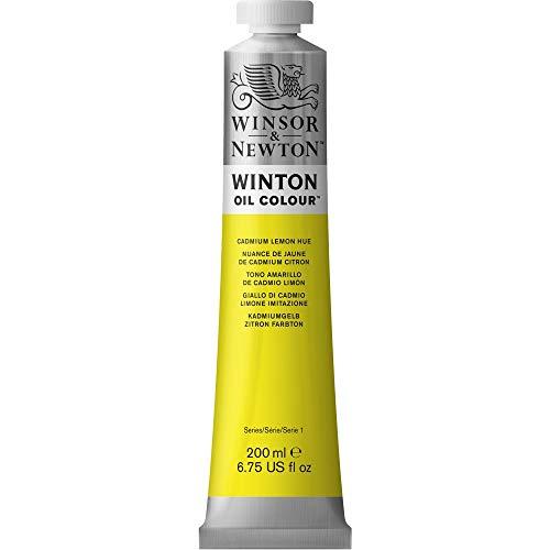 Winsor & Newton Winton - Tubo De Pintura Al Óleo, 200 Ml, Amarillo de Cadmio Limon
