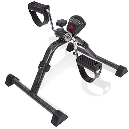 Carex Health Brands Foldable Under Desk Exercise Bike - Desk Bike with Digital Display for Arms and Legs - Great for Elderly, Seniors, Disabled or Office Use, 1 Count