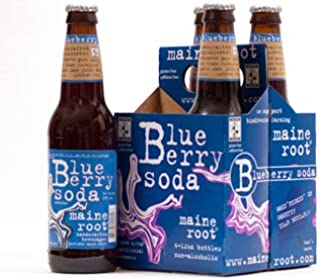 Maine Root - Blueberry Soda (100% Fair Trade & Organic), Buy TWENTYFOUR Bottles and SAVE, Each Bottle is 12 Ounces (Pack o...