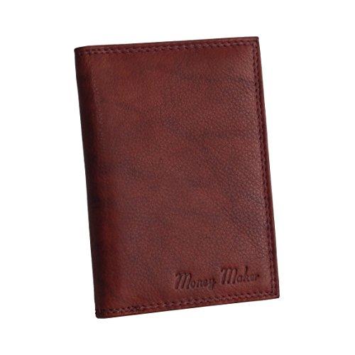 Money Maker - Wild Things Only - Leder Dokumentenmappe Ausweismappe Kreditkartenmappe Führerscheinhülle in versch. Farben - präsentiert von ZMOKA® (Braun)