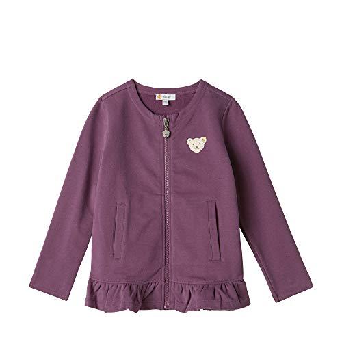 Steiff Sweatshirt Cardigan Veste Sweat, Rose (Hortensia 7021), 95 (Taille Fabricant: 80) Bébé Fille