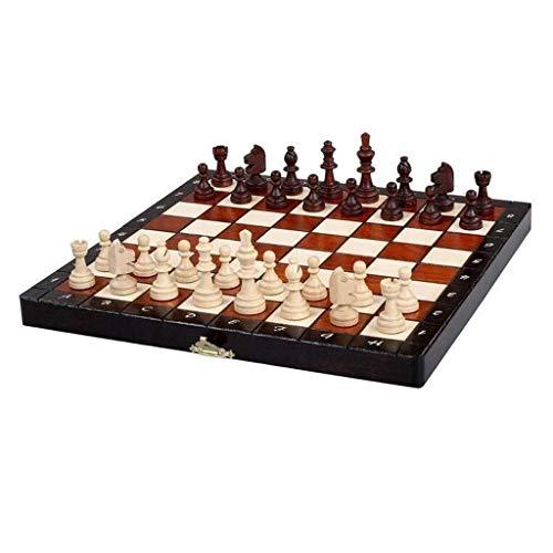 Juego de ajedrez Ajedrez Madera Juego de Mesa Plegable con Piezas Ajedrez magnético Regalos Premium de Navidad Juego de Mesa de Entretenimiento Backgammon (Ejercicio de Pensamiento Intelectual)