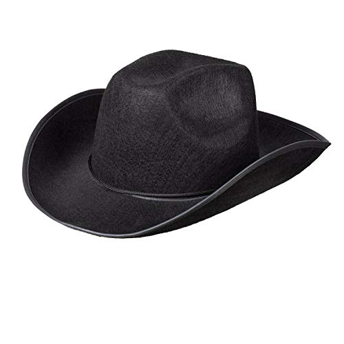 Boland 04071 Chapeau de cowboy pour adulte Noir Taille unique