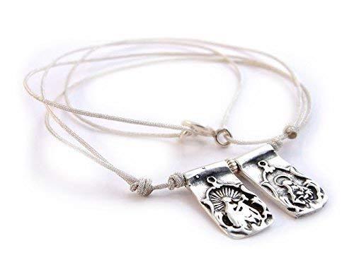 Regalo Día de la Madre/Escapulario de plata de ley con dos piezas/tradicional