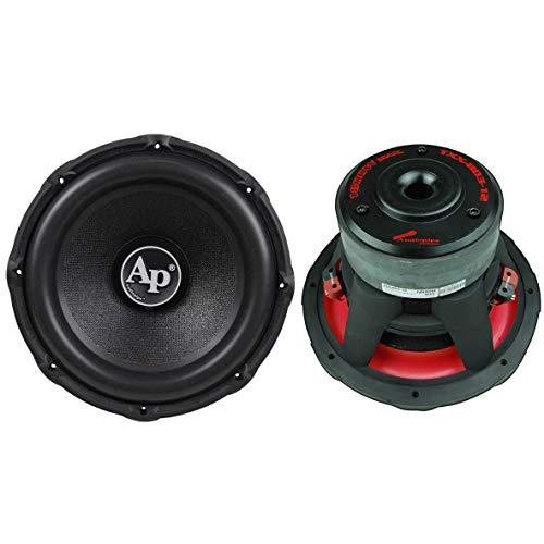 Audiopipe TXX-BD3-12 12 Inch High Performance 3600 Watt Max Power Dual 4 Ohm Voice Coil Car Audio Subwoofers (2 Pack)