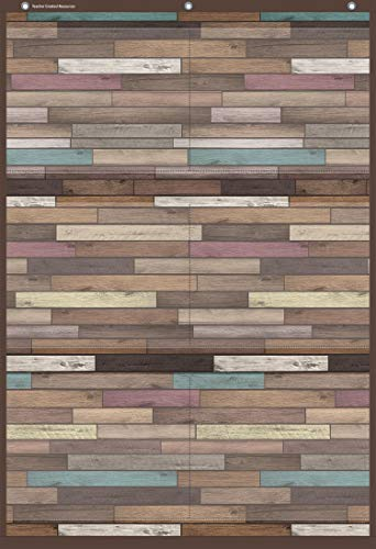 """Teacher Created Resources Reclaimed Wood Large 6 Pocket Chart (26"""" x 38"""") (TCR20326)"""
