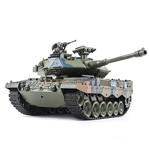 SEXTT Tanque RC, 1:18 Tanque Giratorio de torreta eléctrica de 360 °...