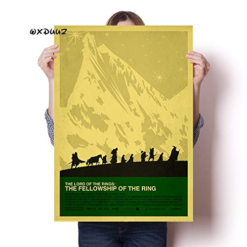 No frame Landkaart in de familie muur Decoratiekunst Lord of the Rings oude retro poster hoge kwaliteit canvas schilderij Woondecoratie 40x60cm