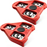 MARQUE Look Delta Compatible Cleats - 9 Degree Float Red Cleat Set for Peloton Indoor Cycling and Outdoor Road Cycling Designed for Women and Men Clipless Spinning and Cycle Shoes (9 Degree - 1 Pair)