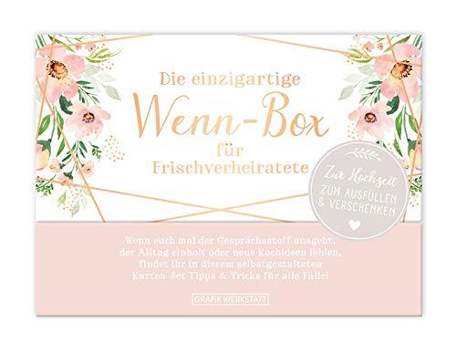 Grafik Werkstatt Geschenk-Box zur Hochzeit| Karten-Set zum ausfüllen | 20 Karten in hochwertiger Box