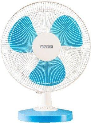 Usha Mist Air Duos Table Fan (Blue)