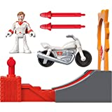 "Recreate the action of Disney·Pixar Toy Story 4! Press the button on the ramp to launch Duke Caboom toward the ""ring of fire"" As he hits the target, projectile rockets launch on either side Includes Duke Caboom figure, stunt cycle, stunt ramp, and 2 ..."