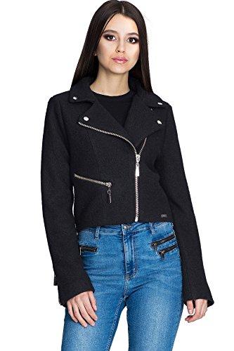 Figl Damen Jacke Ramones Damen Jacke, Größe XL, Schwarz