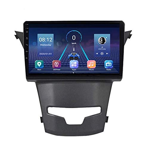 FDGBCF Unidad Principal estéreo para automóvil, Pantalla táctil, Reproductor MP5, Compatible con Mirror Link/Control del Volante/AUX/BT/USB/Dab / OBD2 / FM/Video, Adecuado para SsangYong Korando