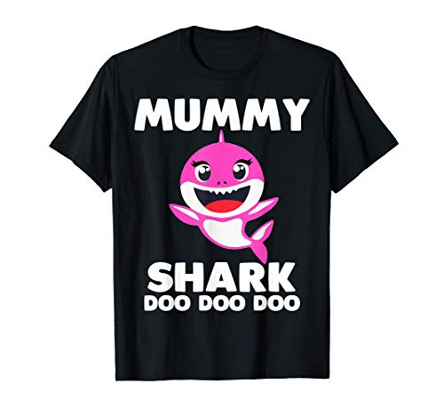Mummy Shark Shirt Funny Mother's Day Gift for Women Birthday T-Shirt