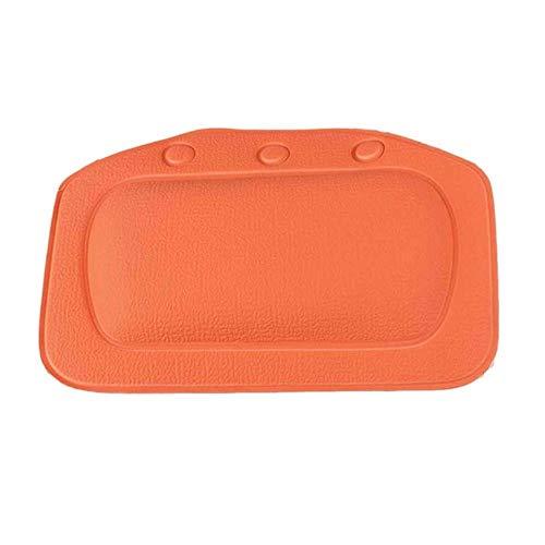 CDFD badkuipkussen Badkussen met kleine zuignappen Antislip badkuip Nekkussen Relax ondersteuningskussen voor nek Hoofdschouder, oranje