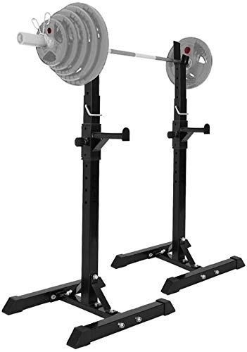 Cnley Banco Plegable Prensa de Mancuernas Dumbbell Dumbbell Racks Squat Squat, Ajustable 42'-63' Barbell Rack Holder Sturdy Acero Squat Barbell Free Bench Press Soportes, Home Portable Portátiles por
