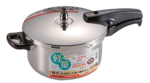 パール金属 軽量 単層片手圧力鍋4.5L H-5457