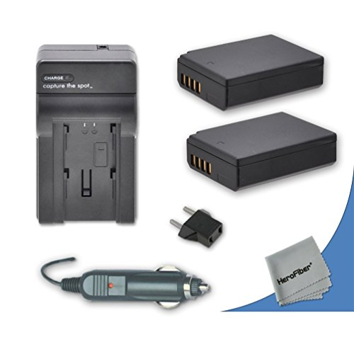 2 High Capacity Replacement Canon LP-E10 Batteries with AC/DC Quick Charger Kit for Canon EOS Rebel T5 DSLR Camera