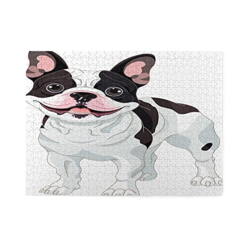 French Bulldogs Puzzle 500 Piece Puzzles for Adults Jigsaw Wooden Puzzle Fun Decompression Puzzle
