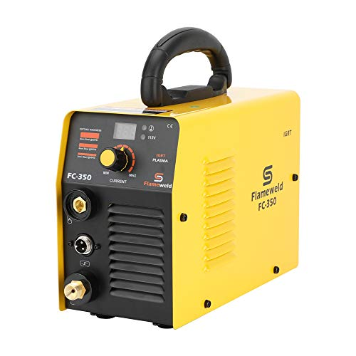 Plasma Cutter FC350 115V 35A Plasma Cutting Machine 5mm Clean Cut 8mm Servance Cut (Yellow)
