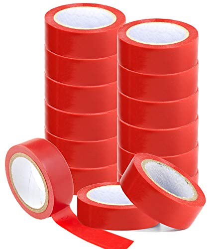 20 Rollen Isolierband Isoband Elektriker Klebeband PVC 19 mm rot extra stark top Qualität