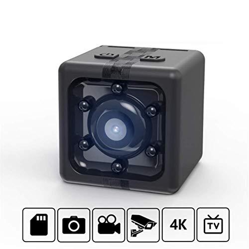 Cámara espía Oculta inalámbrica Full HD 4K Mini con 6 emisores Infrarrojos de Matriz, cámaras portátiles para niñeras HD - Modo de visión Nocturna Inteligente, Ideal para Senderismo, Viajes