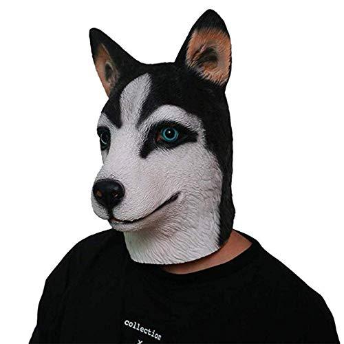 Husky Hond Hoofd Masker Halloween Rood Masker Enge Latex Hoofd Horror Masker Cosplay Reality Bloed Masker Fancy Aangepaste Man Vrouw Comfort