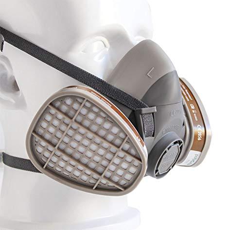 KEKE Mask Respirator Filters Dubbel Stofmasker met Zwarte Rubber Slang Gezicht Masker Respiratory Protection Replica