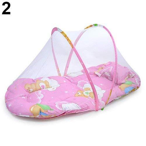 Opvouwbaar baby reisbed draagbaar inklapbaar klamboe wieg tent strandtent met slaapmat pop-up wieg klamboe met kussen ademende wieg tent met kussen