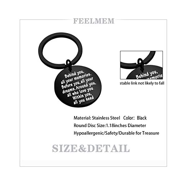 FEELMEM Graduation Gifts Behind You All Memories Before You All Your Dream Graduation Keychain Inspirational Graduates Gifts 2020, 2021