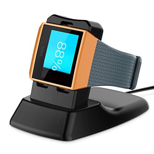 Fitbit Ionic Ladegerät, kabellose Ladestation für Fitbit Ionic Smart Watch, Schwarz