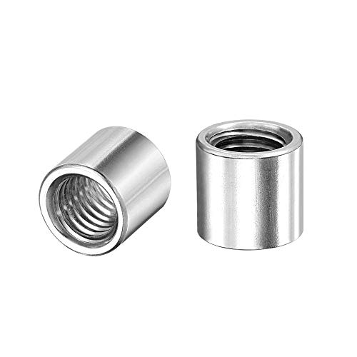 uxcell Round Weld Nuts, M10 x 14mm x 13mm Weld On Bung Female Nut Threaded - 201 Stainless Steel Insert Weldable 10pcs