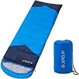 JEAOUIA Compact Lightweight Sleeping Bag, 3 Season Warm & Cool Weather, Camping Gear Equipment for Children & Adults, Indoor & Outdoor Use for Mountaineering, Traveling