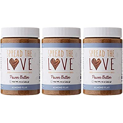 Spread The Love Almond Flax Power Butter, 16 Ou...