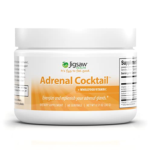 Jigsaw Health Adrenal Cocktail with Whole-Food Vitamin C, 60 Servings