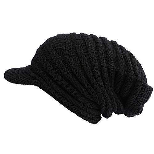 Nyls Création Bonnet Casquette Rasta Noir Kift Mixte, Noir, Taille unique