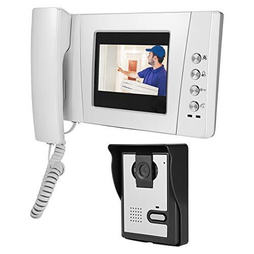 4.3 Timbre de video con pantalla a color, timbre de puerta, seguridad de apartamento familiar Visitantes en el sistema de entrada de audio y video portero automático(EU)