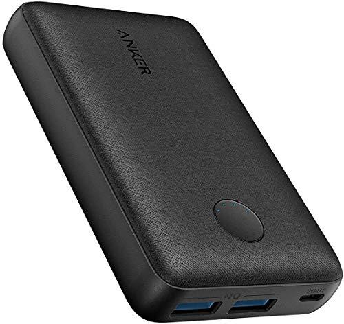 ANKER Powercore 10000 - Powerbank - 18W - 10000mAh - Ultrafin - 2 entrées USB - Technologie PowerIQ - Pour Smartphone, Tablette, MP3/MP4, GPS - Noir