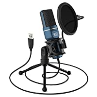TONOR Micrófono PC Micrófono de Condensador Computadora USB Plug & Play con Soporte Trípode & Filtro Pop para Grabación Vocal, Podcasting, Transmisión, Video de Youtube para Laptop Desktop iMac PC