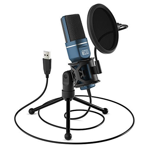 USB Gaming Microphone, TONOR Computer Condenser PC Mic with Tripod Stand & Pop Filter for Streaming,...