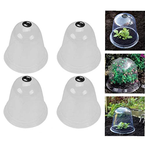 Cultivos De Invernadero De Plantas De Jardín Túnel Cloches Cloché Dome Planta Campana Cubierta del Protector Reutilizable De Plástico Mini Invernadero para Plantas