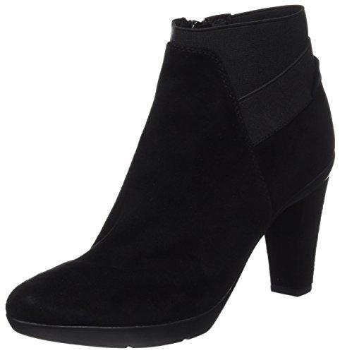 Geox Damskie buty D Inspiration Stiv B kozie zamszowe botki, Schwarz Blackc999-36 EU
