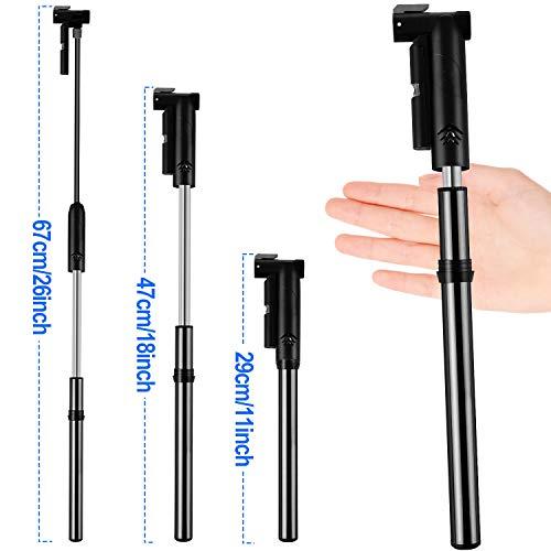 Linko Mini Fahrradpumpe mit Manometer für Presta & Schrader Ventile, Fahrradpumpe Max. Druck 120 PSI / 8 Bar Fahrradluftpumpe, Handpumpe für Basketbälle, Fußbälle, Rennrad und Mountainbike - 4