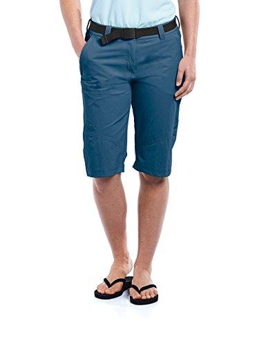 MAIER SPORTS Damen Bermuda Lawa aus 90% PA 10% EL in 25 Größen, Outdoorhose/ Funktionshose/ Shorts inkl. Gürtel, bi-elastisch, schnelltrocknend und wasserabweisend, Größe 38