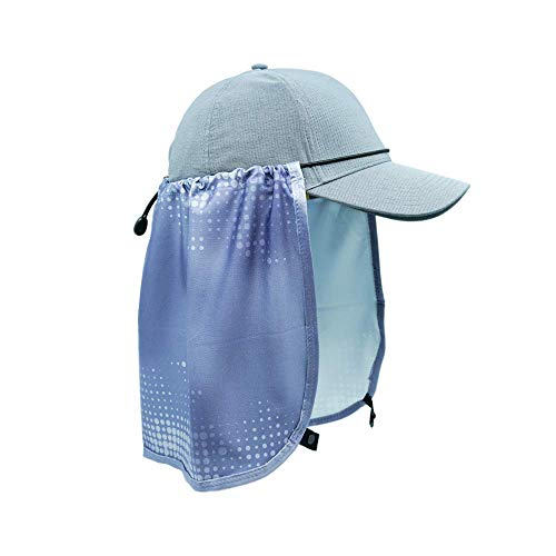 Sprigs Sun Protection Hat Shade Attachment with SPF 45+ & Cooling Fabric (Gray Swell)