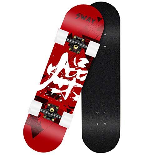YXF-Skateboards Patineta Monopatín de niños Adultos Totalmente ensamblado con Rodamiento ABEC-9 Cubierta...