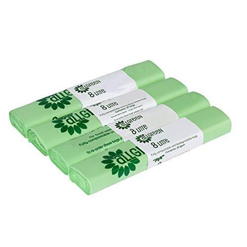 All-Green - Bolsas de basura biodegradables y compostables (8 L, 100 unidades)