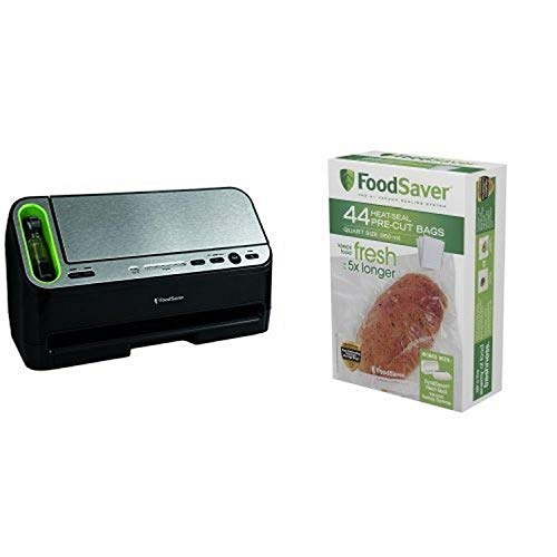 FoodSaver V4440 2-in-1 Automatic Vacuum Sealing System and This bundle includes a FoodSaver V4440 2-in-1 Automatic Vacuum Sealing System and Quart-Sized Bags, 44-Pack Bundle